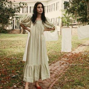 DOEN Mariposa dress in Pistachio